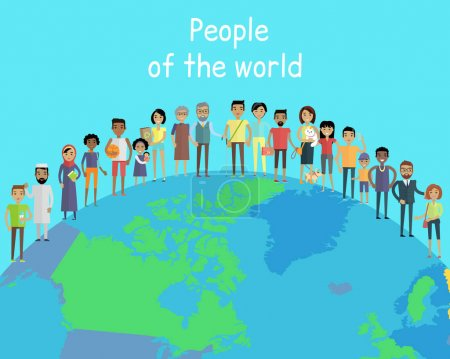 People of the World Vector Concept on Globe