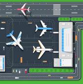 Terminal Aircraft Vector Illustration