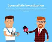 Journalistic Investigation Concept Illustration