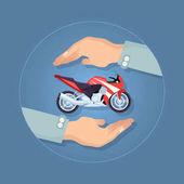 Modern Motorbike Insurance Service Company Logo