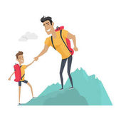 Daddy and Son Go Camping Sport Activities