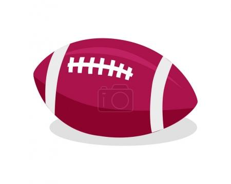 American Football. Red Soccer Ball. Sport Game