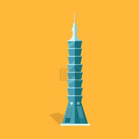Lasting Taipei 101-story Skyscraper in Taiwan