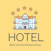 Hotel Five Stars Icon Vector Illustration