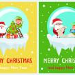 Merry Christmas and Happy New Year, Santa and Elf ...
