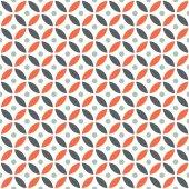 Nahtlose überschneidende geometrische Vintage Orange und Maroon Kreis Muster