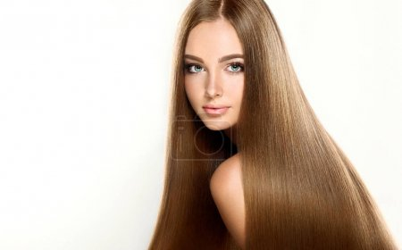 girl with brown long straight hair