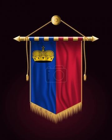 Flag of Liechtenstein. Festive Vertical Banner. Wall Hangings