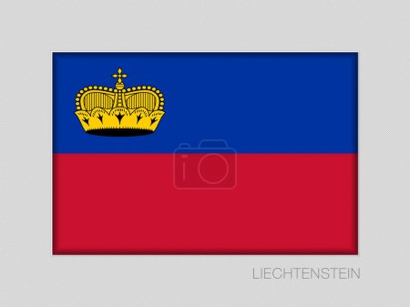 Flag of Liechtenstein. National Ensign Aspect Ratio 2 to 3 on Gr