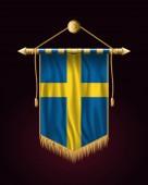 Flag of Sweden Festive Vertical Banner Wall Hangings