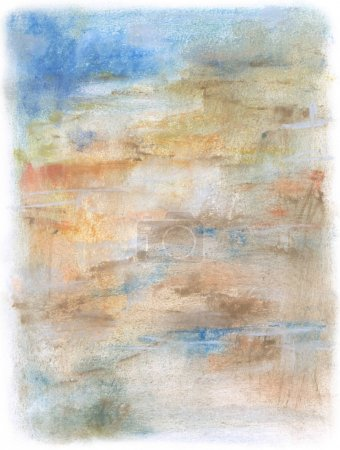 Abstract painting with colorful pastels, fine arti...