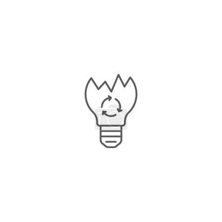 Foto de Símbolo vector de reciclaje de bombillas ligero aislado sobre fondo blanco. - Imagen libre de derechos