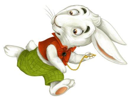 cartoon rabbit running