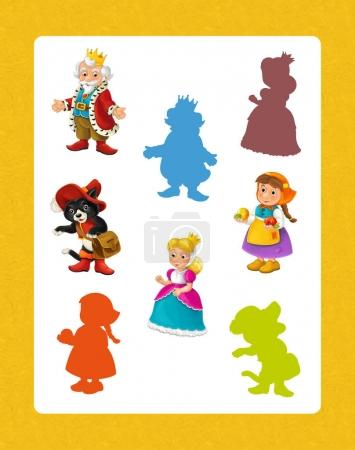Cartoon set of medieval characters