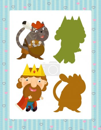medieval characters king and cat