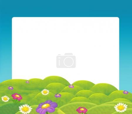 cartoon nature frame