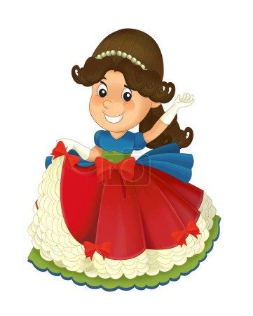 royal princess cheerful standing and smiling