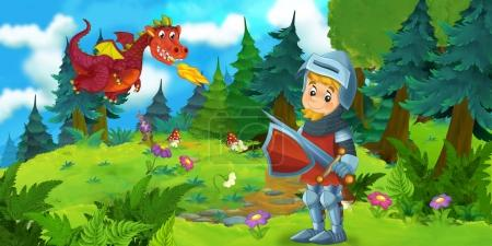 funny scene with young knight