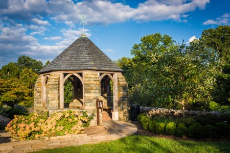 Gazebo in the Bishop's Garden and the Washington National Cathed