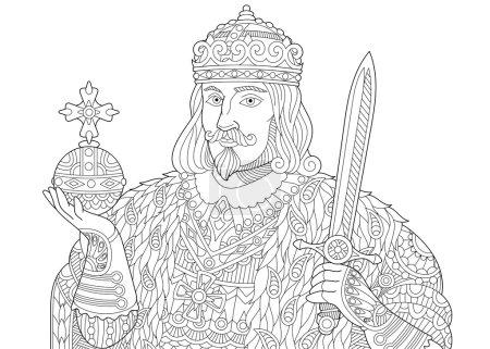 Zentangle stylized king