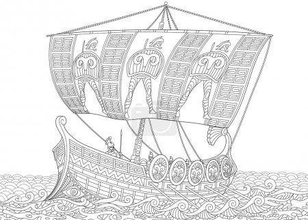 Zentangle стилизованный древних греческих галерах