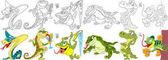cartoon reptiles set