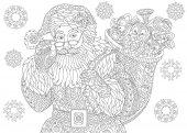Zentangle vintage Santa Claus