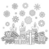 Zentangle vintage Christmas decorations