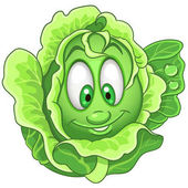 Cartoon Cabbage character