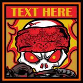 skull mafia with gun hand drawing vector