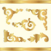 Vector golden elements on a light background
