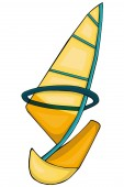 Sailing  Cartoon style Clip art for children Isolated image on white background