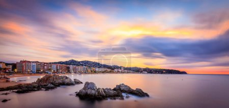 Sunrise over Lloret de mar, Spain, Costa brava