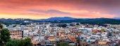 Sunset over Lloret de mar, Spain, Costa brava