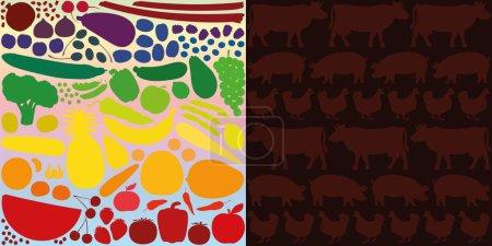 Vegetables Fruit Versus Meat