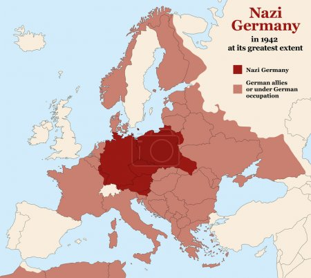 Nazi Germany Third Reich Greatest Extent