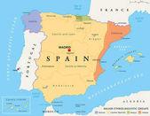 Spain autonomous communities political map
