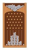 Bean Machine Galton Board Wooden Texture