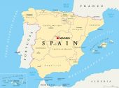 Spain political and administrative divisions map