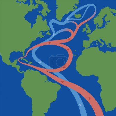 Golfstrom nordatlantische Strömung