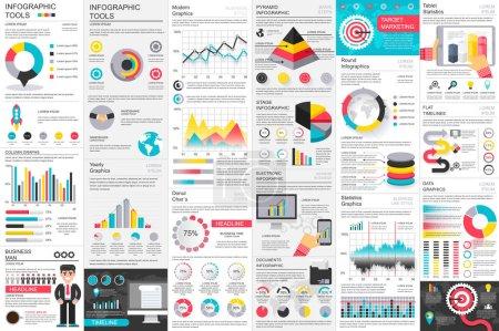 Infographic business data visualization