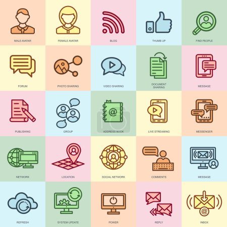 internet marketing and social network icons