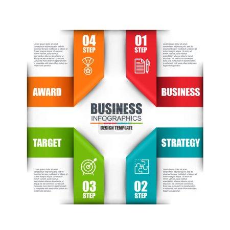 Infographic business lebel data visualization
