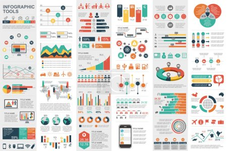 Illustration for Infographic elements data visualization vector design template. Can be used for steps, options, business processes, workflow, diagram, flowchart concept, timeline, marketing icons, info graphics. - Royalty Free Image