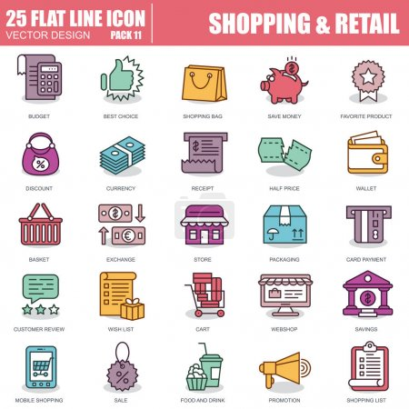 set of shopping and retail icons