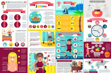 Woman Infographic Elements