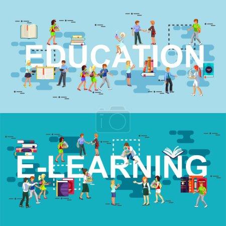 Set of flat concept online education