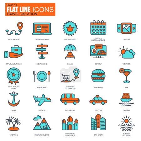 travel agencies icons set