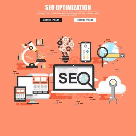 SEO conceptual web banner.