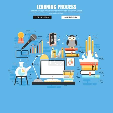 Flat concept of learning and brain process